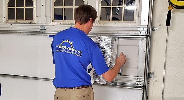 garage door insulation double bubble radiant barrier